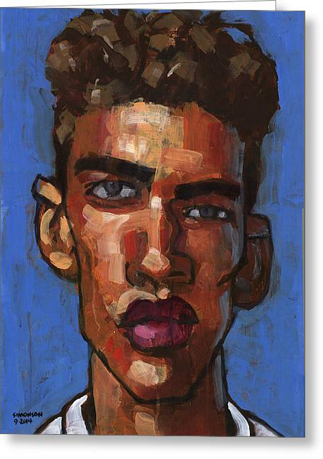 Expressionist Greeting Cards - Wants To Be a Model Greeting Card by Douglas Simonson