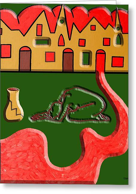 Conceptual Abstraction Greeting Cards - War 3 Greeting Card by Patrick J Murphy