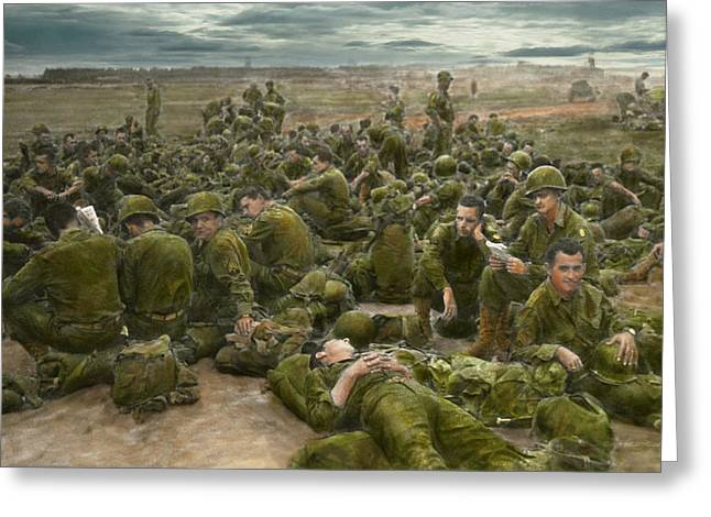 Grunts Greeting Cards - War - A thousand stories Greeting Card by Mike Savad