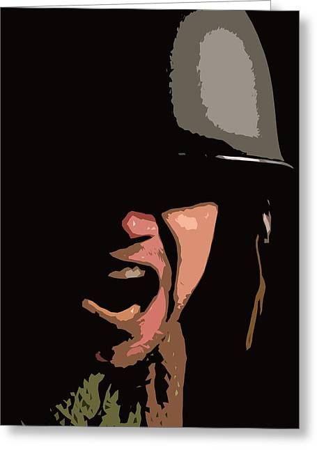 Distraught Greeting Cards - War Cry Greeting Card by John Gomez