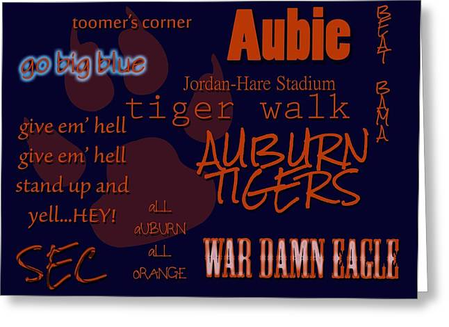 War Eagle Greeting Card by Kendra Sheffield