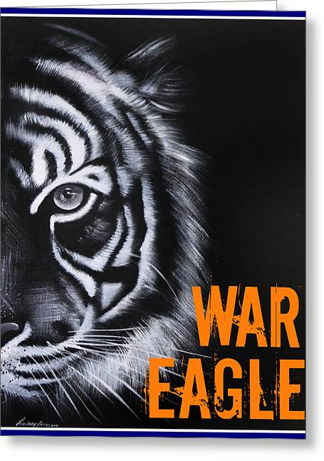 War Eagle Greeting Card by Lindsay Pace
