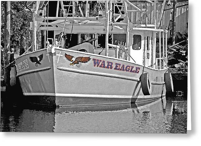 Crimson Tide Greeting Cards - War Eagle Greeting Card by Michael Thomas