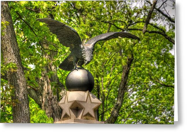 Brigade Greeting Cards - War Eagles - 29th Pennsylvania Infantry Slocum Avenue South Culps Hill Spring Gettysburg Greeting Card by Michael Mazaika