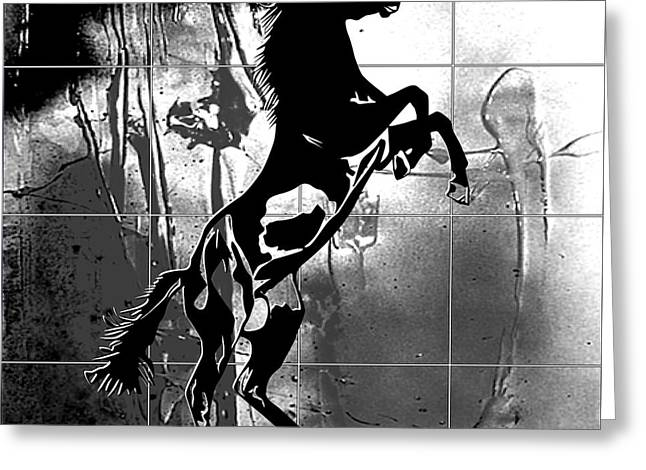 Dressing Room Digital Art Greeting Cards - War horse Greeting Card by Roby Marelly