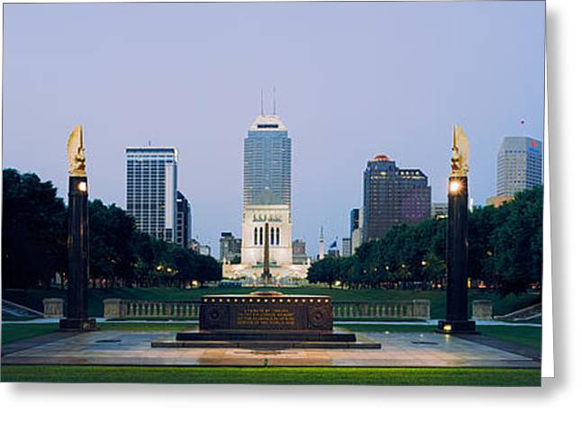 Indiana Images Greeting Cards - War Memorial In A City, Cenotaph Greeting Card by Panoramic Images