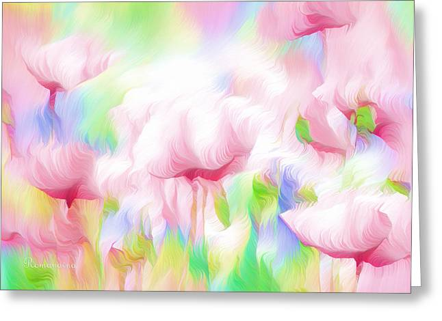 Romance Mixed Media Greeting Cards - War Of The Pink Winds  Greeting Card by Georgiana Romanovna