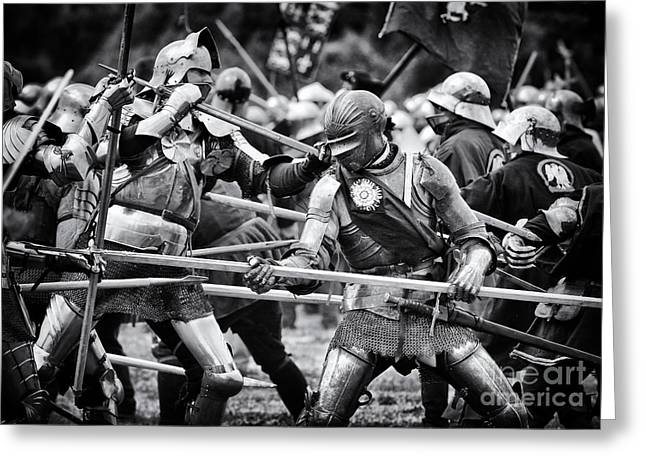 Historical Re-enactments Greeting Cards - War of the Roses Medieval Knights  Greeting Card by Tim Gainey