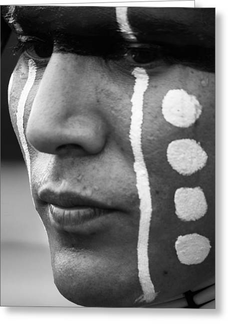 Cree Greeting Cards - War Paint Greeting Card by Jerry Cordeiro