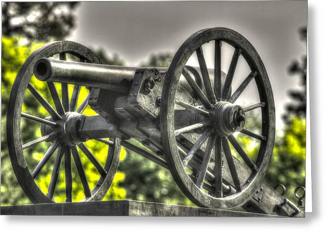 2nd Brigade Greeting Cards - War Thunder - 5th NY Independent Battery 1st Excelsior Light Artillery Gettysburg National Cemetery Greeting Card by Michael Mazaika