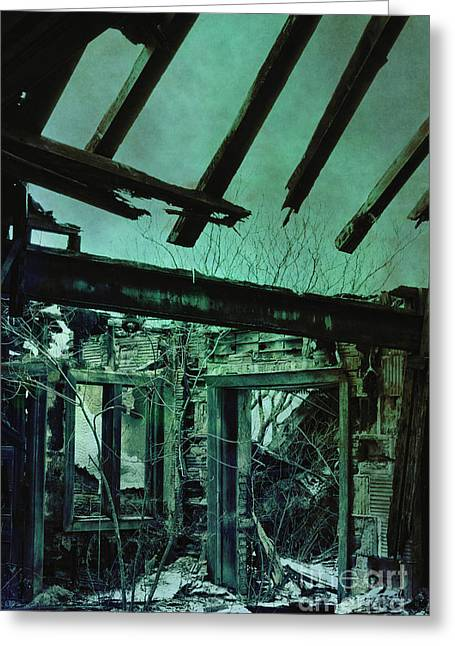 Overruns Photographs Greeting Cards - War Torn Greeting Card by Margie Hurwich