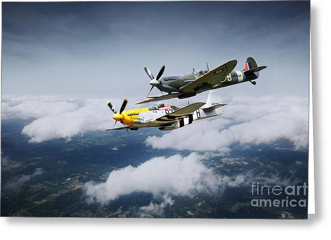 Ferocious Frankie Greeting Cards - Warbird Wonders  Greeting Card by J Biggadike