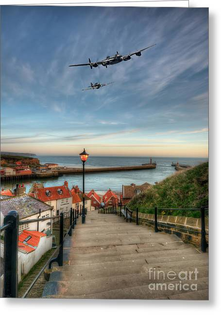Seaside Digital Greeting Cards - Warbirds at Whitby Greeting Card by J Biggadike