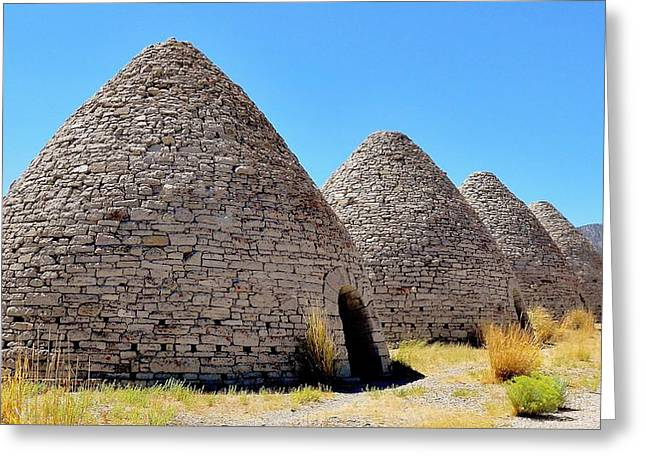 Silver Ore Greeting Cards - Ward Charcoal Ovens Greeting Card by Benjamin Yeager