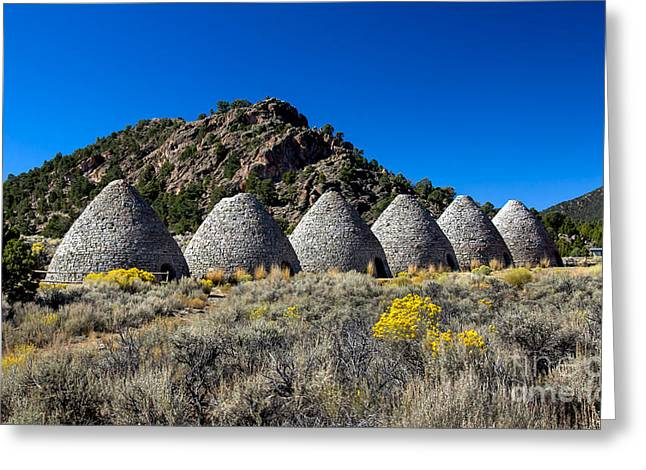 Haybale Greeting Cards - Wards Charcoal Ovens Greeting Card by Robert Bales