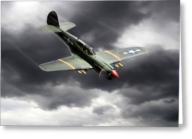 Warhawk Greeting Cards - Warhawk Greeting Card by Peter Chilelli
