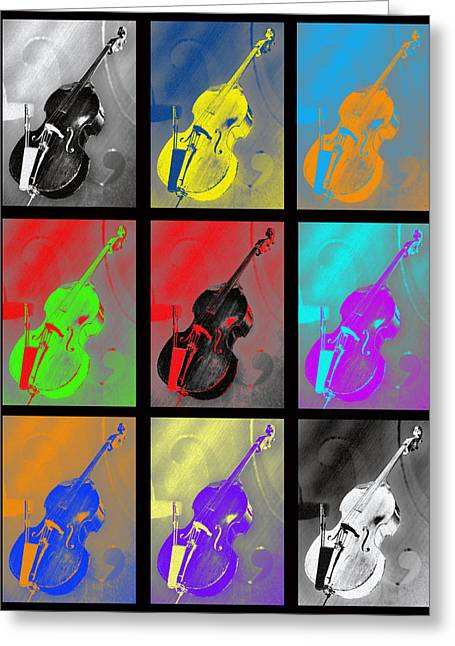 Rockabilly Digital Art Greeting Cards - Warhol Bass Greeting Card by Lisa A Bello