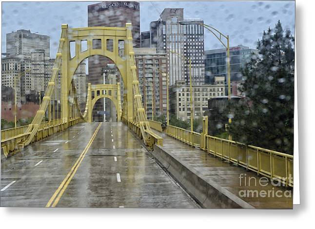 Big Sister Greeting Cards - Warhol in the Rain Greeting Card by Thomas R Fletcher