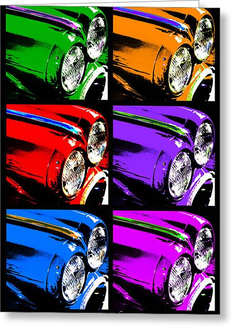 Automobile Artwork. Greeting Cards - Warhols Ride Greeting Card by Mary Machare