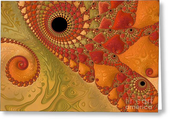 Neutral Background Greeting Cards - Warm And Earthy Greeting Card by Heidi Smith