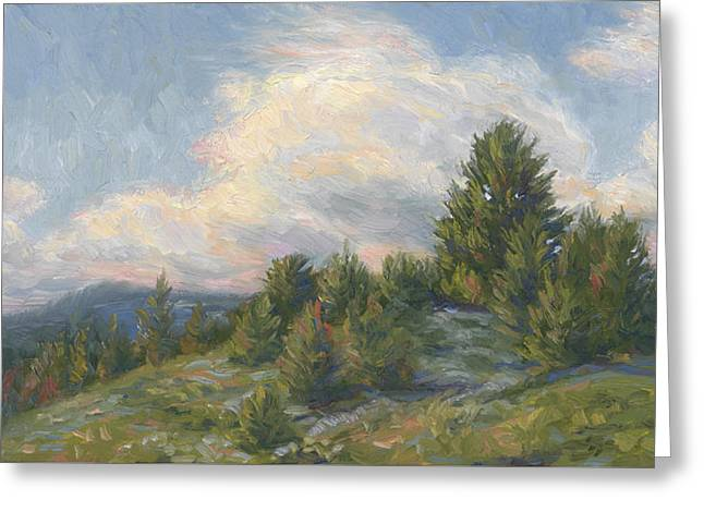 Outdoors Paintings Greeting Cards - Warm Breeze Greeting Card by Lucie Bilodeau