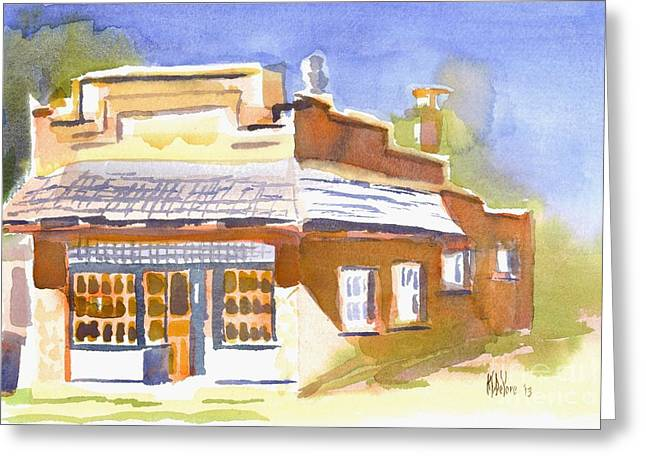 Main Street Greeting Cards - Warm Cast Shadows Greeting Card by Kip DeVore