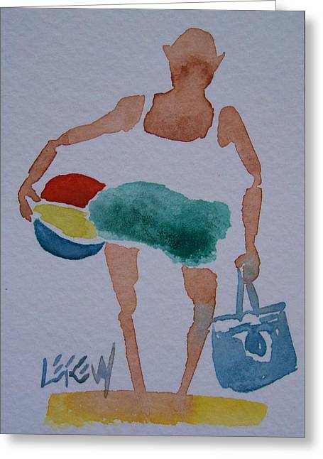 Senior Citizen Drawings Greeting Cards - Warm Day Ahead Greeting Card by Larry Lerew