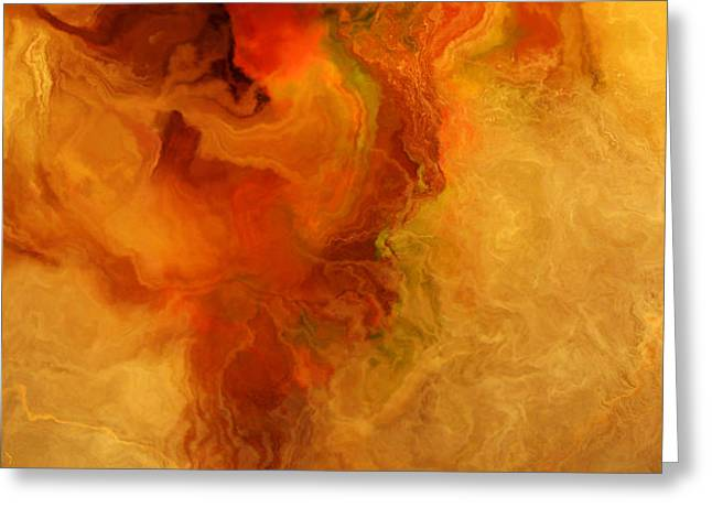 Print On Canvas Greeting Cards - Warm Embrace - Abstract Art Greeting Card by Jaison Cianelli
