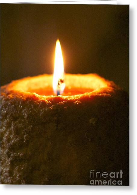 Candel Greeting Cards - Warm Glow Greeting Card by Toni Daniel