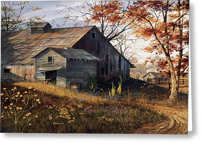 Barns Greeting Cards - Warm Memories Greeting Card by Michael Humphries