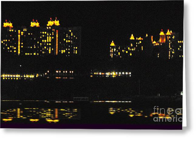 Atlantis Mixed Media Greeting Cards - Warm Night Please Greeting Card by Katherine Williams