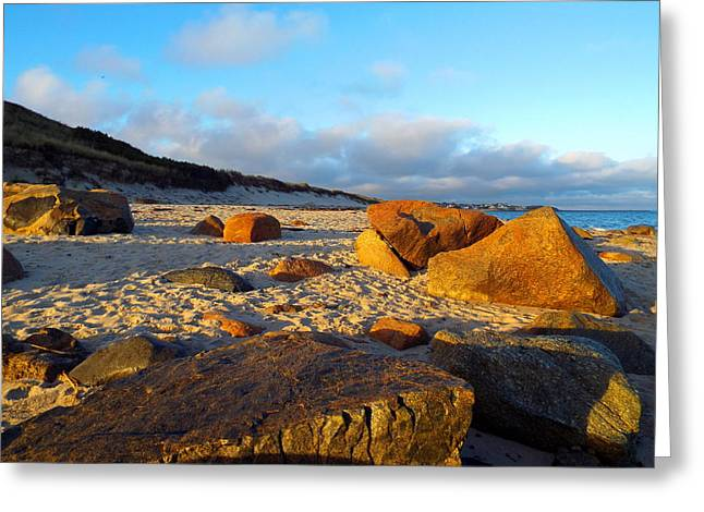 East Dennis Ma Greeting Cards - Warm Sand Greeting Card by Dianne Cowen