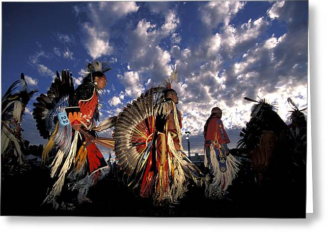 Pow Wow Greeting Cards - Warm Springs Greeting Card by Christian Heeb