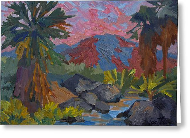 Palm Springs Greeting Cards - Warm Summer Afternon at Indian Canyon Greeting Card by Diane McClary