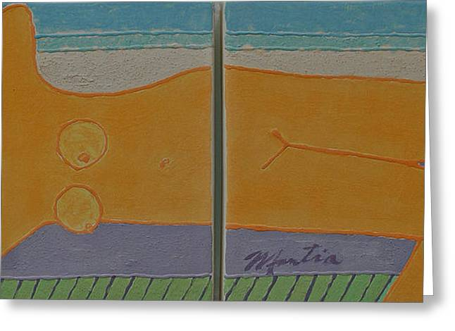 Sand Ceramics Greeting Cards - Warm Summer Breezes Greeting Card by Art Mantia