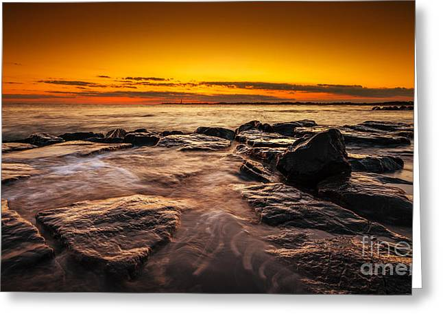 Jerseyshore Greeting Cards - Warm Summer Glow  Greeting Card by Michael Ver Sprill