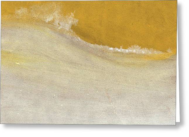 Snow Abstract Greeting Cards - Warm Sun Greeting Card by Linda Woods