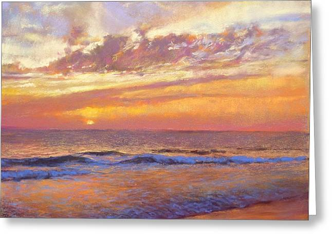 Spectacular Pastels Greeting Cards - Warm sunset Greeting Card by Cecile Houel