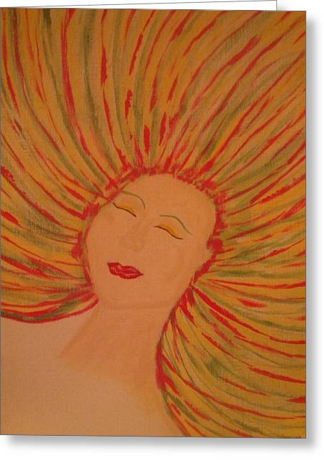Inner Self Paintings Greeting Cards - Warm Thoughts Greeting Card by Erica  Darknell