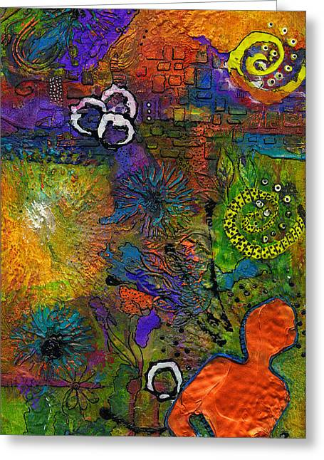 Survivor Art Greeting Cards - Warm Vibes Greeting Card by Angela L Walker