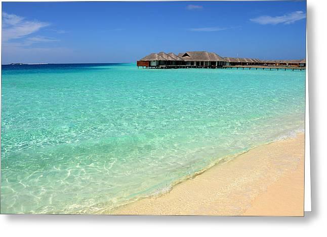 Warm Welcoming. Maldives Greeting Card by Jenny Rainbow