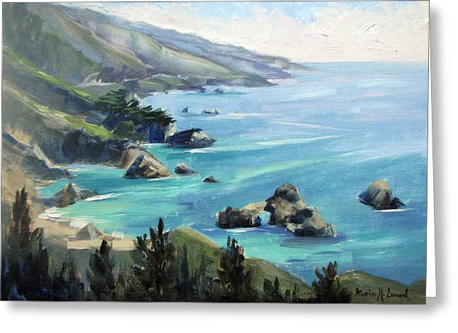 Warm Winter Day Big Sur Greeting Card by Karin  Leonard