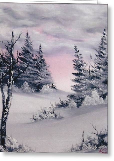 Decour Greeting Cards - Warm winter sky Greeting Card by Samuel Jaycox
