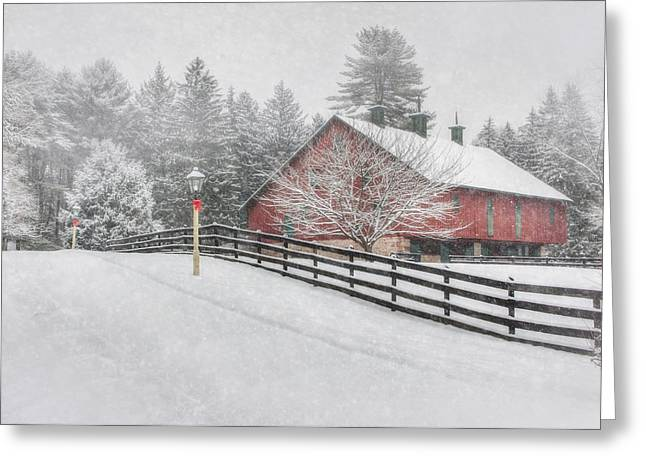 Snowy Roads Digital Art Greeting Cards - Warmest Holiday Wishes Greeting Card by Lori Deiter