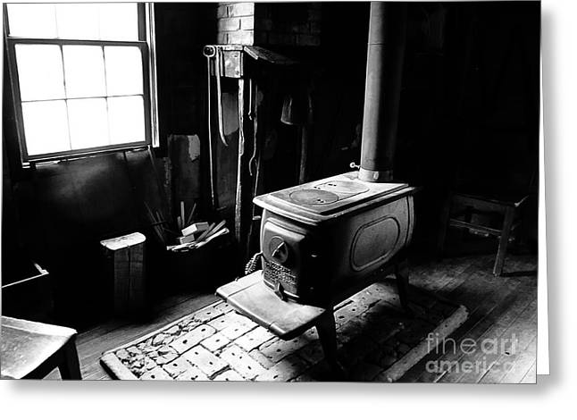 Historical Images Greeting Cards - Warming Area Greeting Card by Tina M Wenger