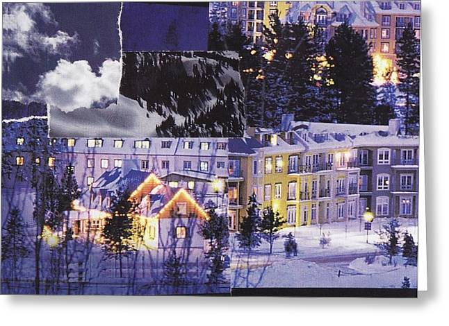 Skiing Art Cards Greeting Cards - Warming Splendour of Tremblant Greeting Card by Matthew Hoffman