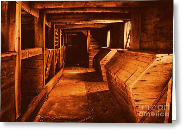 Pa Barns Greeting Cards - Warmly lit stables Greeting Card by Paul W Faust -  Impressions of Light