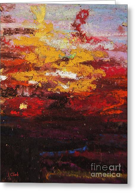 Acrylic Pastels Greeting Cards - Warmth Greeting Card by John Clark