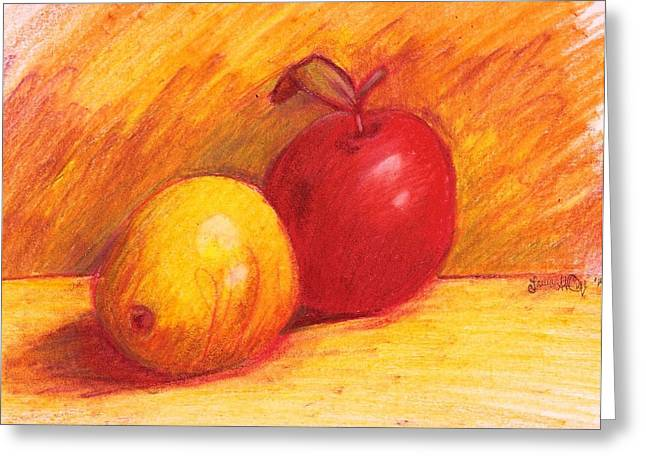 Fineart Drawings Greeting Cards - Warmth Greeting Card by Laura St Onge