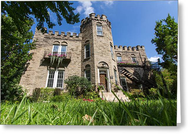 Warner Park Greeting Cards - Warner Castle in Rochester NY Greeting Card by Dan Dangler